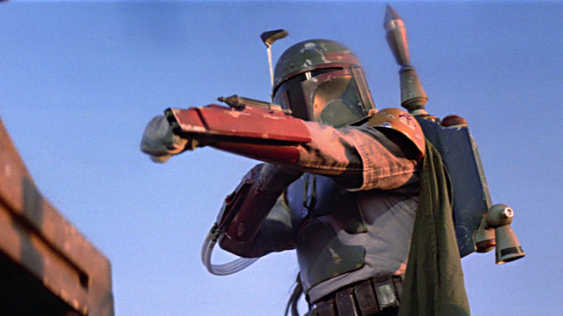 Boba Fett in action.