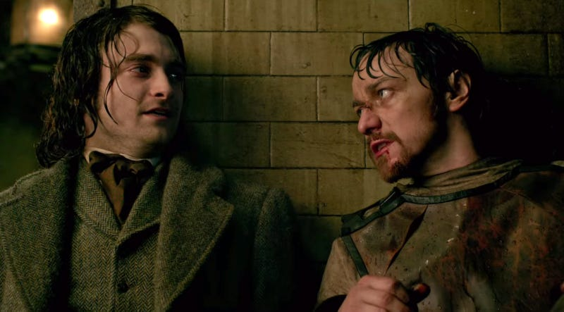 Illustration for article titled Victor Frankenstein Is Like Watching Your Cute Friend Get High and Blowtorch Their Own Face