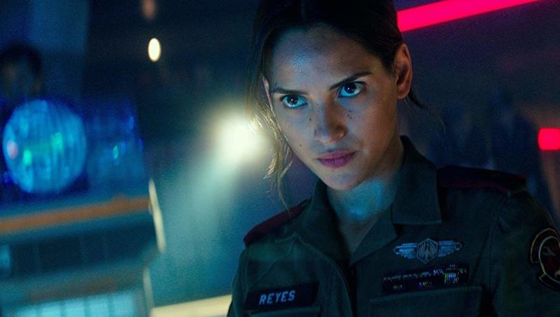 Adria Arjona as Jules Reyes in Pacific Rim: Uprising.