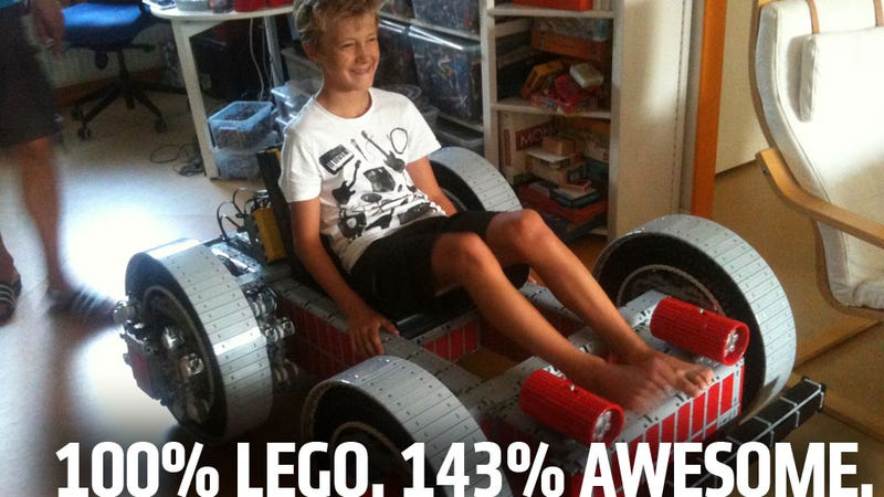 Illustration for article titled Huge Drivable Lego Go-Kart Ups Pushes Global Awesome Index To New Highs