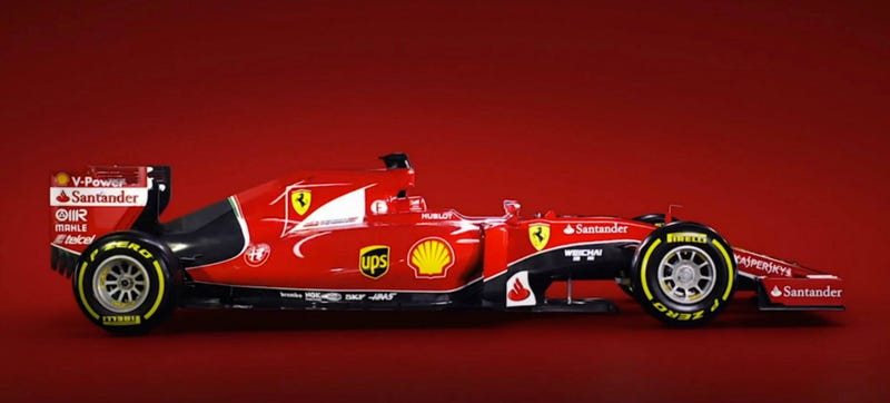 """Illustration for article titled Ferrari's """"Sexy"""" New F1 Car Has A Cheese Grater On The Back"""