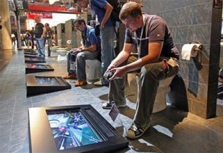 Illustration for article titled Sony's Playstation Booth at the Games Convention is The Shit