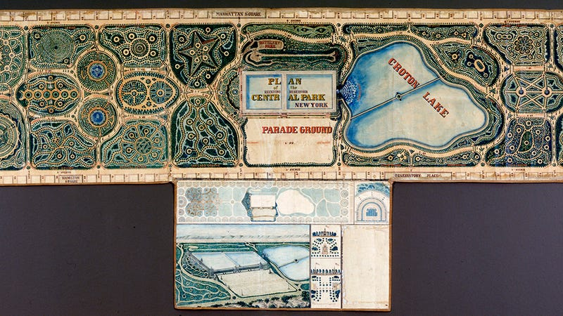 Illustration for article titled Behold a Once-Lost Plan for a Central Park That Might Have Been