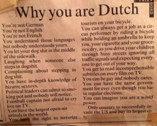 Illustration for article titled Why You Are Dutch