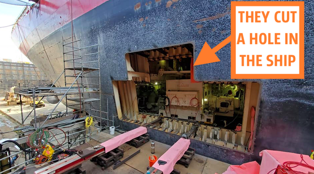 The Way The U.S. Coast Guard Replaces Its Largest Ship s Motor Is Mind-Blowing