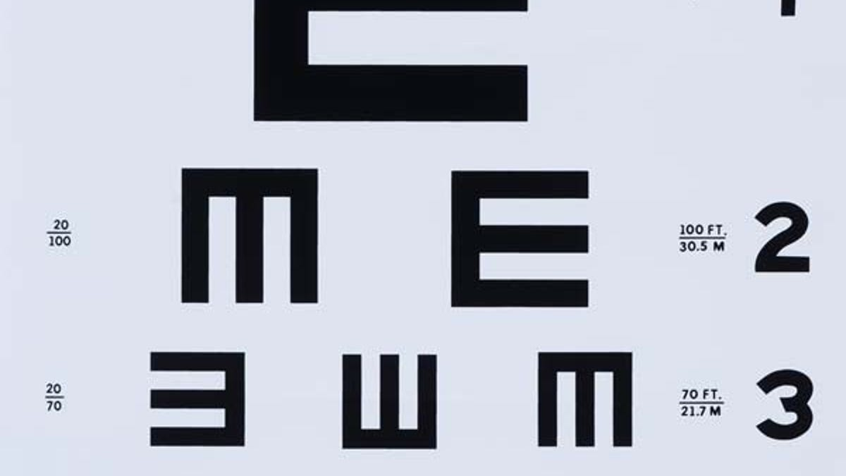 Examining the fascinating typographic history of eye charts nvjuhfo Images