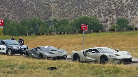 Ford Gt Test Drivers Caught Going  Mph In A  Mph Zone Police