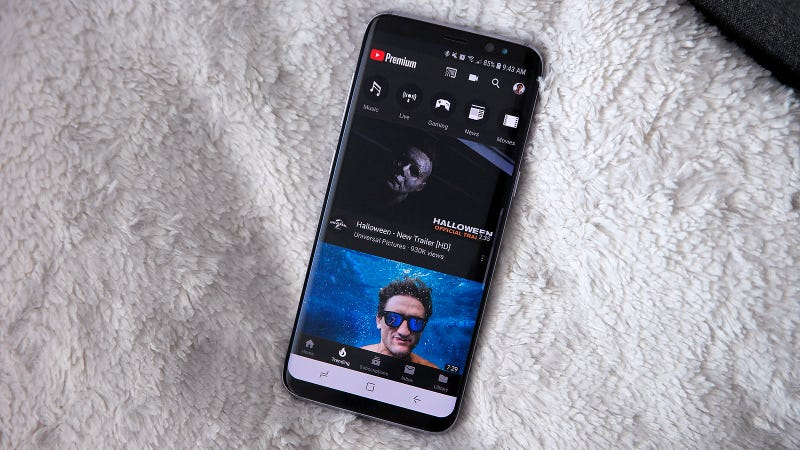dark mode for youtube app android