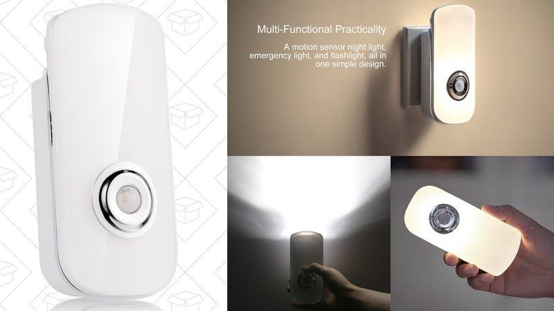 2-Pack Etekcity LED Night Light/Flashlight With Battery Backup, $24