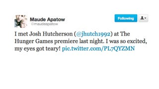Illustration for article titled Maude Apatow Gets the Teenage Girl Swoons Over Josh Hutcherson