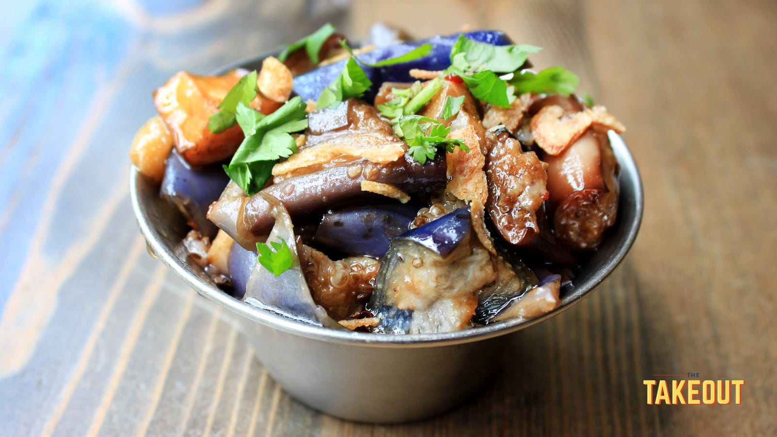 Marinated Chinese eggplant is the only recipe I've ever begged from a chef