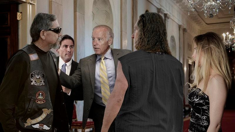 Illustration for article titled Biden Huddling With Closest Advisers On Whether To Spend 200 Bucks On Scorpions Tickets