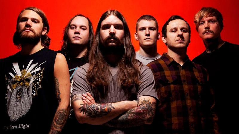 "Illustration for article titled Watch Norwegian metal band Kvelertak absolutely shred its ""Evig Vandrar"" live"