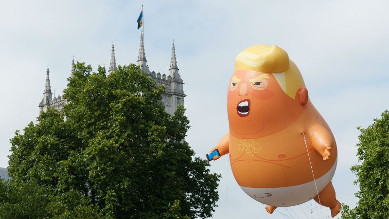 Illustration for article titled Grotesque 'Trump Baby' Blimp Takes to the Skies!