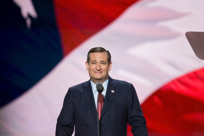 Ted Cruz speaks on the third day of the Republican National Convention on July 20, 2016, at the Quicken Loans Arena in Cleveland. Tasos Katopodis/WireImage