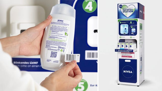 Nivea Is Testing In-Store Dispensers to Refill Soap Bottles and Reduce Plastic Waste