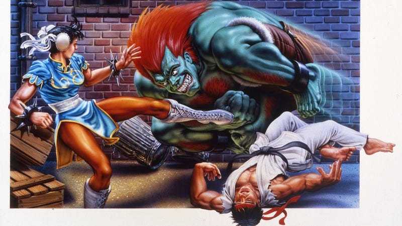 From the box art of Street Fighter II on Super NES. Photo: Capcom Unity.