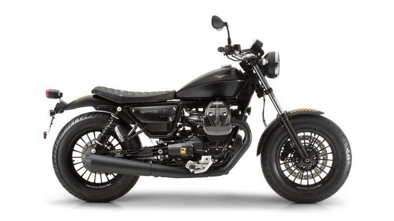 Illustration for article titled Here's The First Glimpse At The All New Moto Guzzi V9 Bobber, Roamer V9, And 230 Horsepower RSV4RF