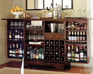 Attrayant Stocking A Bar For $100 Is Even More Difficult. Letu0027s Take A Look At Three  Different Methods For Gearing Up Your Liquor Cabinet For Parties ...
