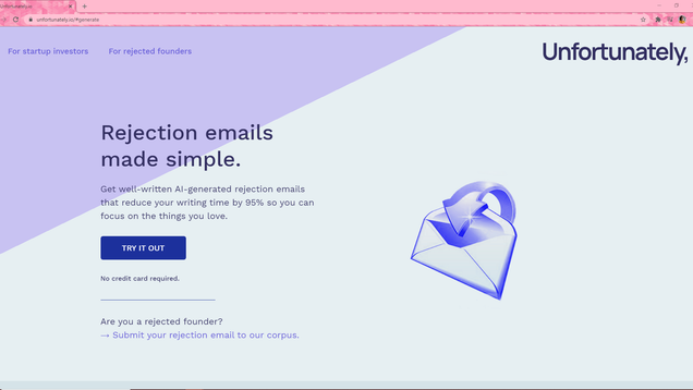 This Site Spits Out AI-Generated Rejection Emails so You Can Copy and Paste Disappointment