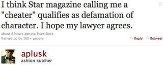Illustration for article titled Ashton Denies Cheating On Demi