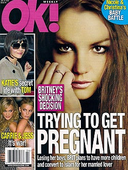 Illustration for article titled This Week In Tabloids: Britney Might Want A Baby & A Burka?