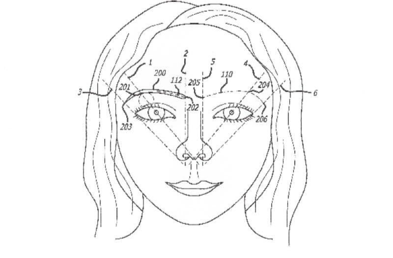 Illustration for article titled This Patented Method for Eyebrow-Shaping Uses the Golden Ratio