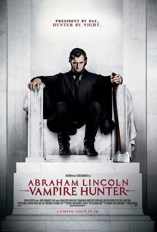 Illustration for article titled Abraham Lincoln: Vampire Hunter Poster