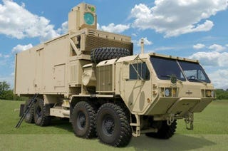 Illustration for article titled This Mortar-Hunting War Truck Just Got a Powerful New Laser Cannon