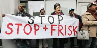 Activists protest New York City's stop-and-frisk policy. (Getty Images)