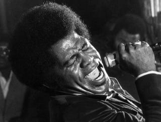 In this file picture taken in September 1971, James Brown performs at the Olympia hall in Paris.AFP/Getty Images