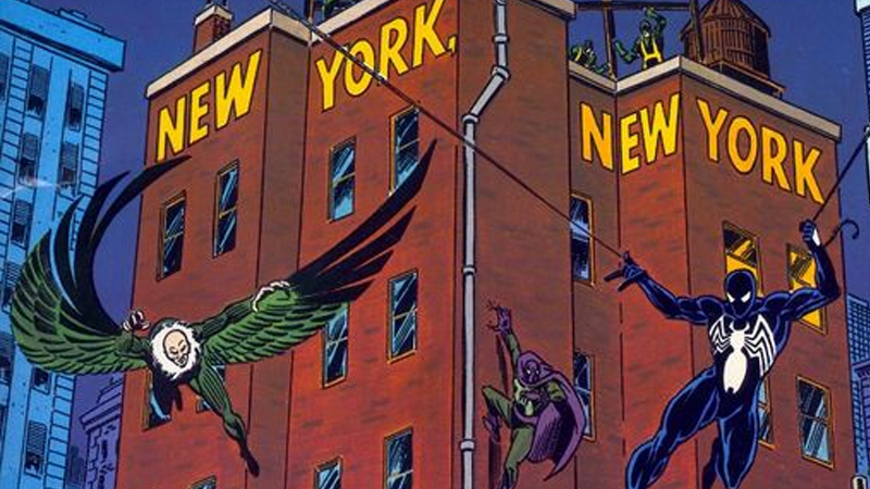 Image: Marvel Comics/TSR. Marvel Superheroes RPG: New York, New York supplement cover.