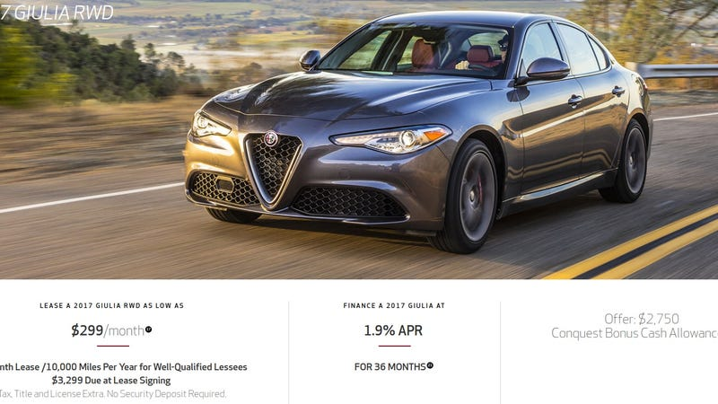 Here'S How That $299 A Month Alfa Romeo Giulia Lease Deal Really Works