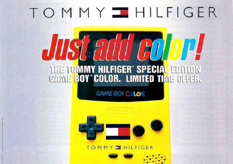A catalog ad for the Tommy Hilfiger Game Boy Color via 8-Bit Central