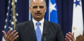U.S. Attorney Gen. Eric Holder speaks at a recent event. (Saul Loeb/AFP/Getty Images)