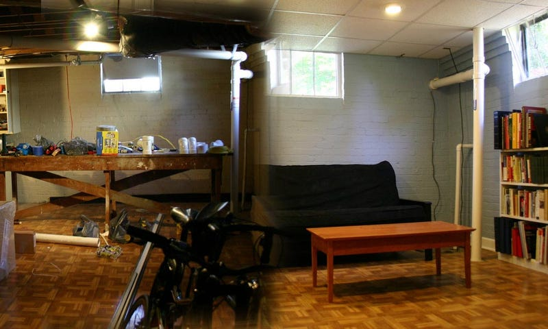 Before And After The Basement Home Office