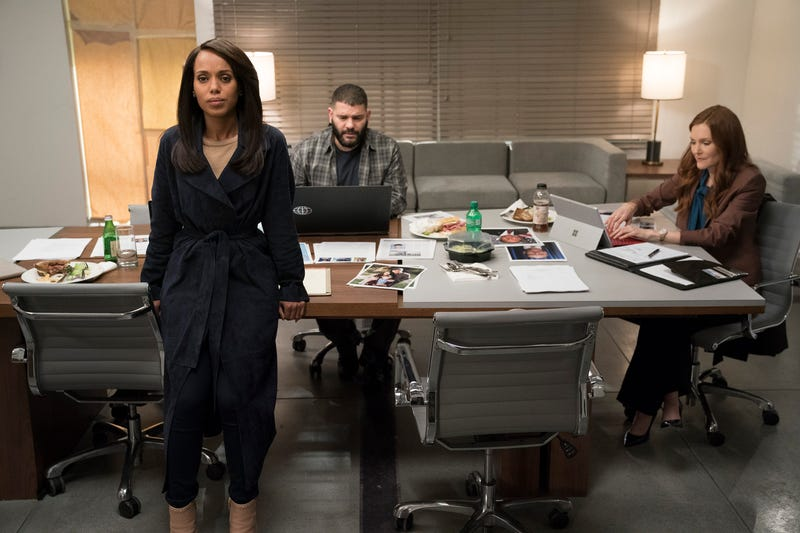 Kerry Washington (left), Guillermo Diaz, Darby Stanchfield