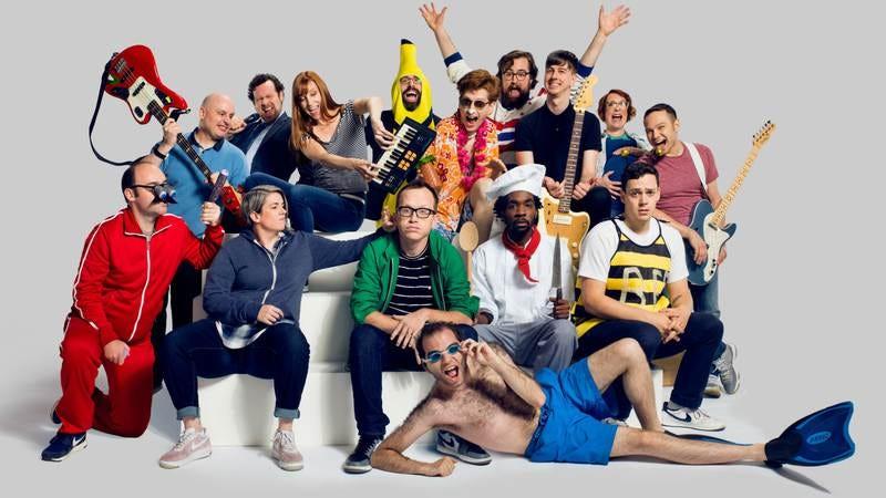 The many, many characters of The Chris Gethard Show (Photo: Celeste Sloman/TruTV)