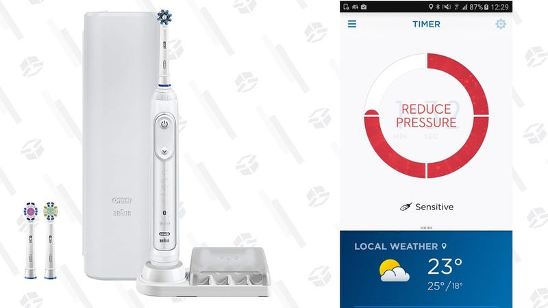 Oral-B Pro 7500 SmartSeries Electric Rechargeable Toothbrush | $90 | Amazon