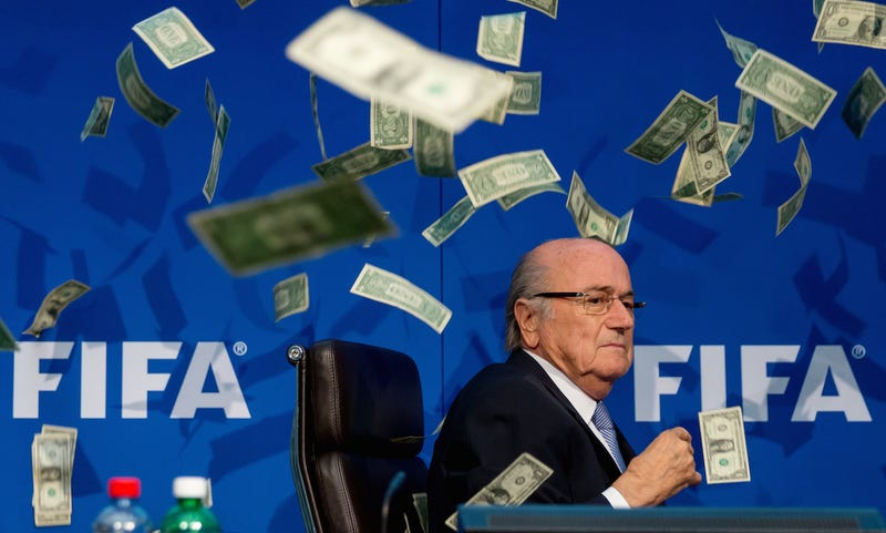 Illustration for article titled With No Fear Of Arrest, Sepp Blatter Finally Leaves Home For... Russia