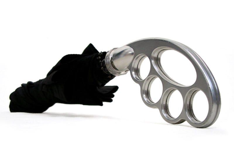 Illustration for article titled Umbuster Brass Knuckle Umbrella Now For Sale