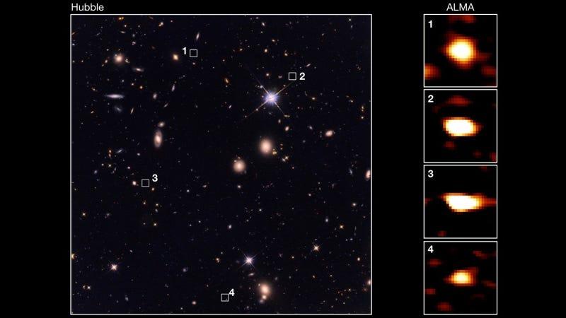 Astronomers Uncover Ancient Treasure Trove of Massive Galaxies