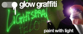 Illustration for article titled Glow In The Dark Graffiti Makes Street Art Rave-tastic