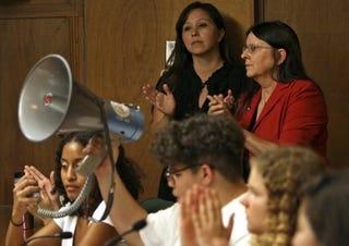 Tucson students storm school board meeting. (Google)