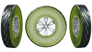 Illustration for article titled Bridgestone's Puncture-Proof Tires Look Like They Were Made With a Spirograph