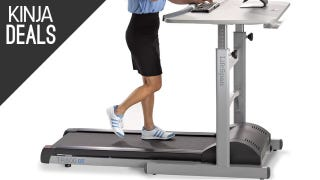 Illustration for article titled Sitting is Killing You, So Grab This Treadmill Desk For $300 Off Today