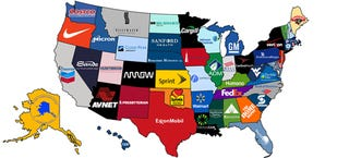 Illustration for article titled What the biggest companies are from each state in the US