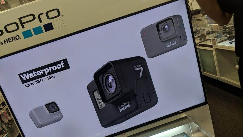 Illustration for article titled Leaked GoPro Product Display Appears to Show  the Unreleased Hero 7