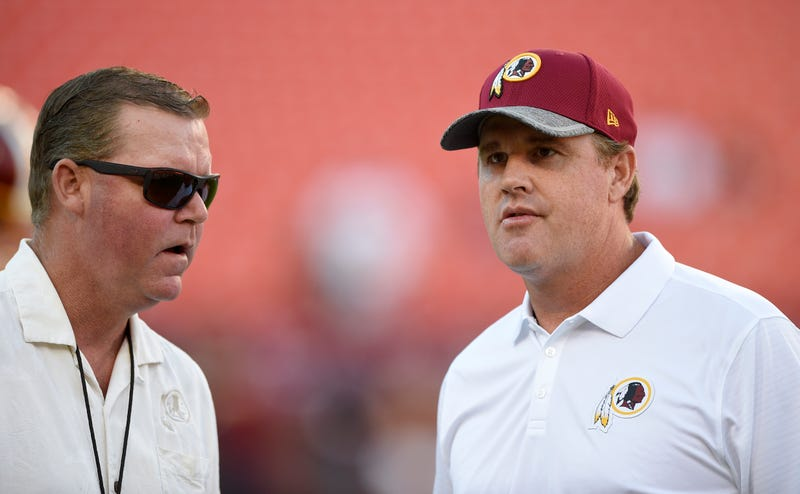 Scot McCloughan, left, and Jay Gruden, right. Photo: Nick Wass/AP Images.
