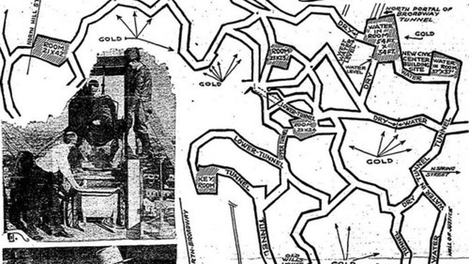 A 1934 Map Of The Secret Lizard City Under Los Angeles
